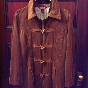 mac & jac corduroy toggle light jacket