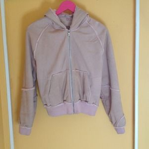 UGG pastel pink zip up jacket with hood