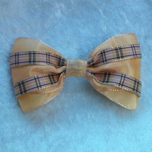 "MoonGoddessCouture Accessories - 🎀4.5"" Apricot Colored Hair Bow!Burberry Accent!🎀"