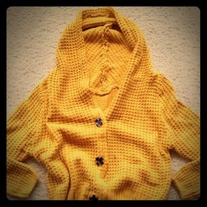 Forever 21 mustard yellow oversized cardigan M