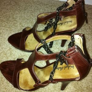 Michael Antonio size 7 brown pumps.