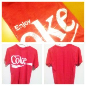 "Tops - Vintage style ""Enjoy Coke"" shirt"