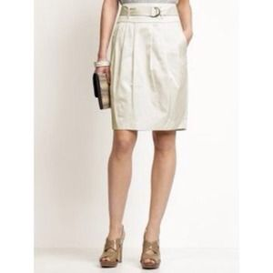 Banana Republic Belted Pleated Tulip Skirt