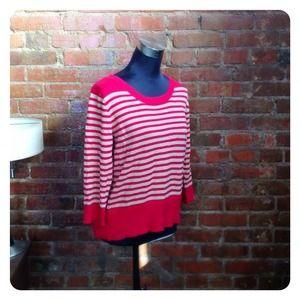 HALF OFF SALE | Red Striped Sweater