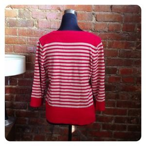 vintage Sweaters - HALF OFF SALE | Red Striped Sweater