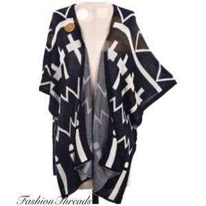SOLD OUT! New Black Chic Cross Cardi Sweater