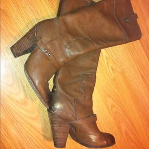 Sam Edelman Boots - Sam Edelman LOVE these brown leather heel boots