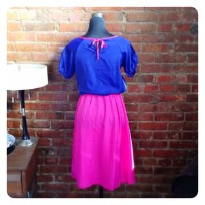 Dresses - HALF OFF SALE | Pink & Cobalt Dress
