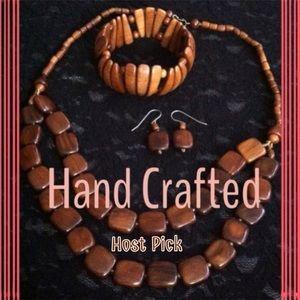 Jewelry - 🎁Wooden Necklace, Bracelet & Earrings