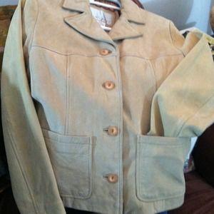 Jackets & Blazers - Nine West Tan Suede Jacket