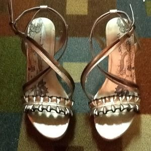 "4"" wedge sandal with ""criss cross"" strap beautiful"