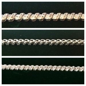 Jewelry - New .925 Diamond-Cut Sterling Silver Bracelet