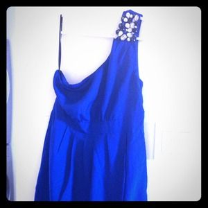 One Shoulder Cobalt Dress