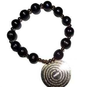 Jewelry - Black Fresh water Pearls Padre Nuestro bracelet