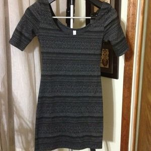 Dresses - RESERVED Black & Grey Print Dress