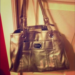 Handbags - Nine West Silver Metallic Handbag