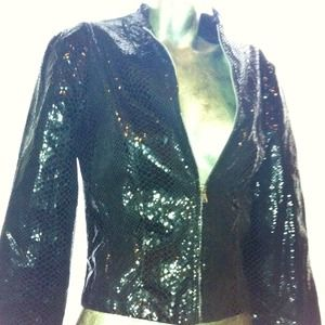XOXO Black (sequin / python embossed) Jacket