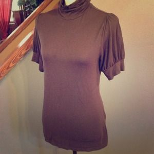 CLEARANCE LOFT Brown Short sleeve Turtleneck
