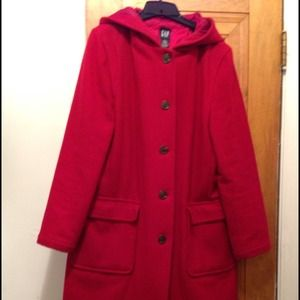 Outerwear - Gap red winter coat