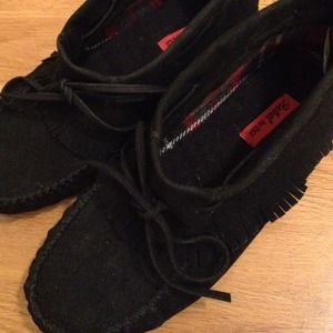 Brand NEW Black Moccasins/Booties