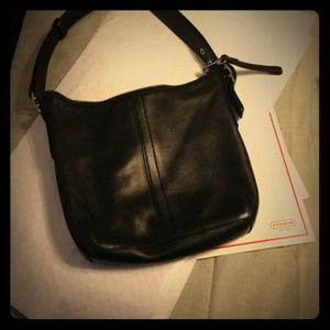 Coach Handbags - Authentic Black Leather Coach hobo.