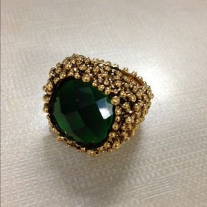bebe Jewelry - Green Cocktail Ring