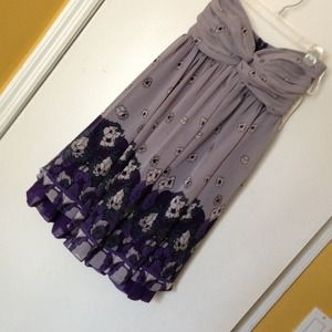 Alyn Paige Dresses & Skirts - Brand new purple floral dress + 2 tops and skirt