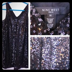 Nine West Dresses & Skirts - Nine West Sexy Black Sequin Dress