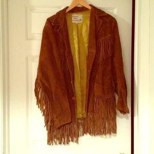 Jackets & Coats - Vintage Suede Fringe Jacket
