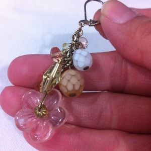 Jewelry - RESERVED Pretty in Pink charm earrings