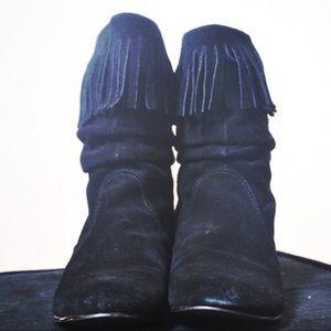 Steve Madden Shoes - Steve Madden Suede Fringe Booties