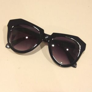 Accessories - Karen Walker inspired black sunglasses