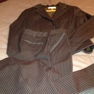 Jackets & Blazers - 2pc Brown and Blue pinstriped suite