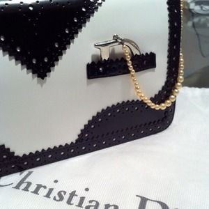 Dior Handbags - Christian Dior D'Trick black & white