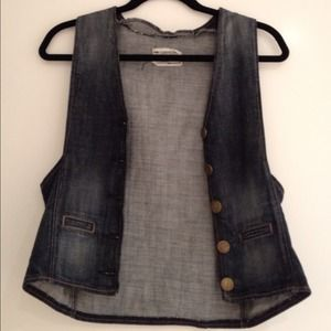Current/Elliott denim vest