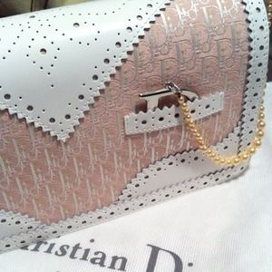 Dior Handbags - Christian Dior D'Trick pink & white shoulder bag