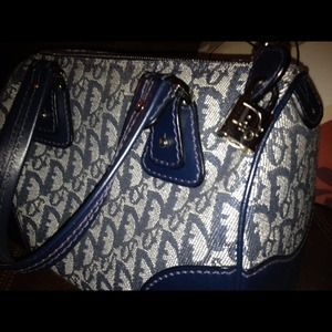 Dior Handbags - Dior Boston Denim handheld bag