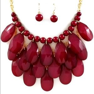Scarlet Statement Necklace