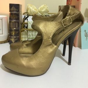 Shoe Dazzle Shoes - REDUCED Gold Shoes