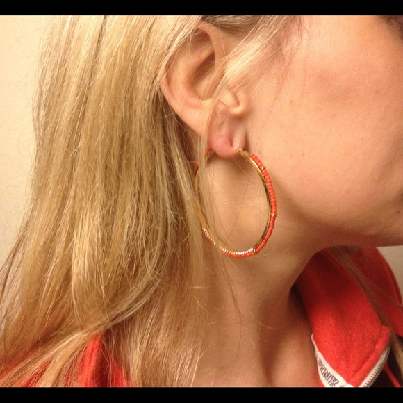 Juicy Couture Jewelry - New Coral Juicy Couture hoops!!! 2