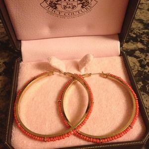 Juicy Couture Jewelry - New Coral Juicy Couture hoops!!! 4