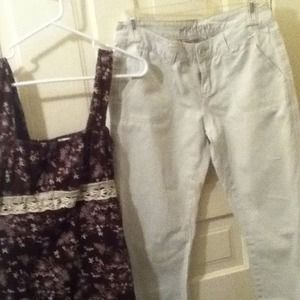 Pants - Aeropostale kaki pants and shirt