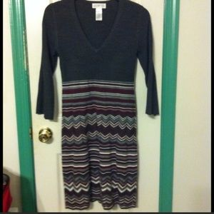 Sweater dress NWOT small with built in adj. slip