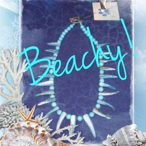 💙Reduced💙Handmade shell necklace! 🐚