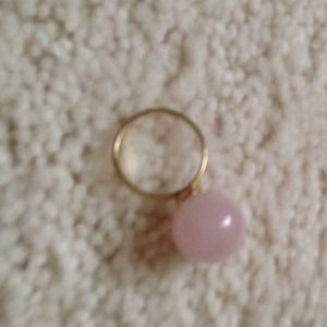 J. Crew Jewelry - Jcrew ball ring. 10k gold & pink quartz.
