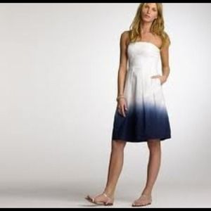 Jcrew Lorelei sundress. Dip dyed white to blue.