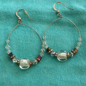Jewelry - Glass beaded hoops!