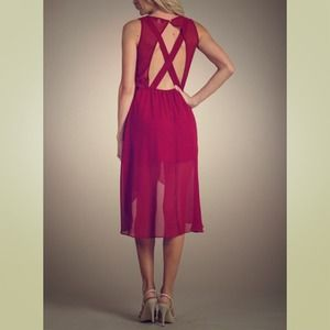Dresses & Skirts - Burgundy Hi-Lo Dress