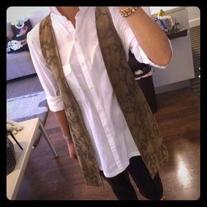 Laser cut suede vest. NWNT