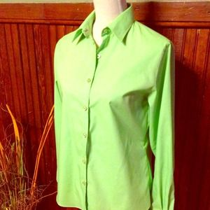 CLEARANCE Bright Green Green/Pink Button Down